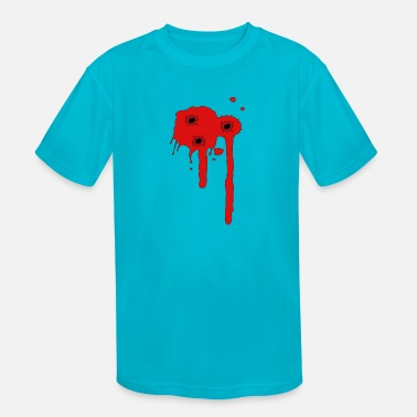 Bullet Hole Comic - bullet holes - Kids' Sport T-Shirt