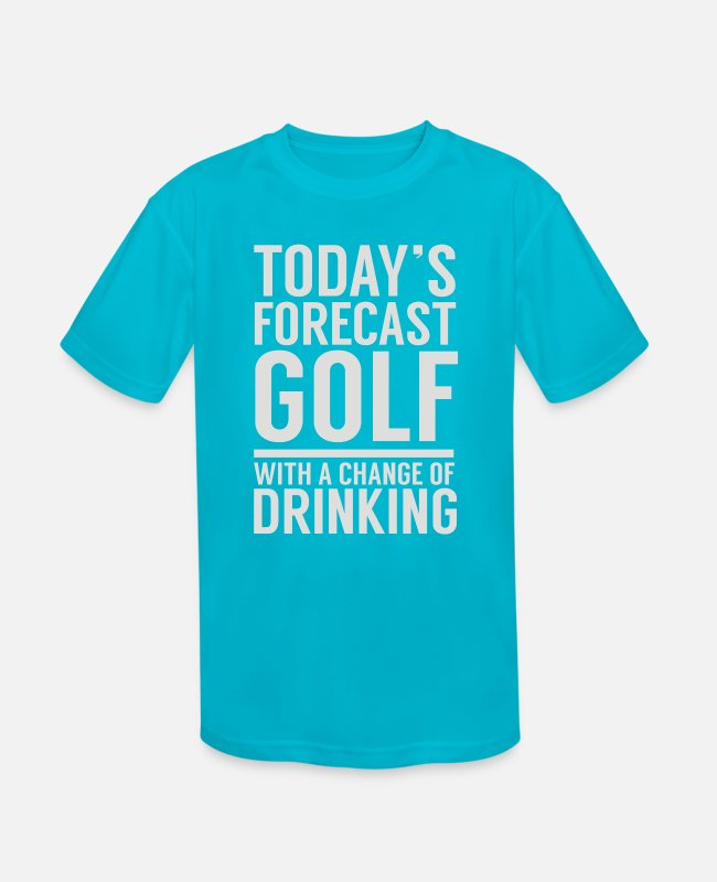 Couples T-Shirts - Golfers - Kids' Sport T-Shirt turquoise