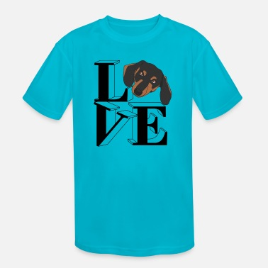 Dachshund Love - Kids' Sport T-Shirt