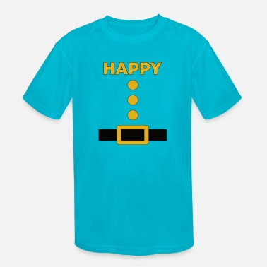 Happy Happy Dwarf Halloween Costume Blue Shirt - Kids' Sport T-Shirt
