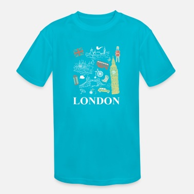 British Funny Novelty Gift For Tourist London - Kids' Sport T-Shirt