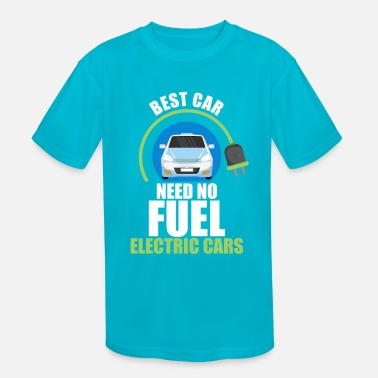 Energy-conscious Electric car electromobility electricity gift - Kids' Sport T-Shirt