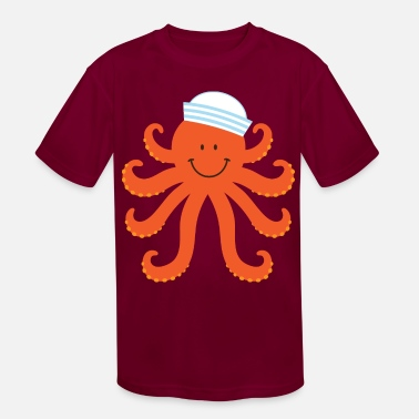 Creature Octopus Sailor Nautical - Kids' Sport T-Shirt