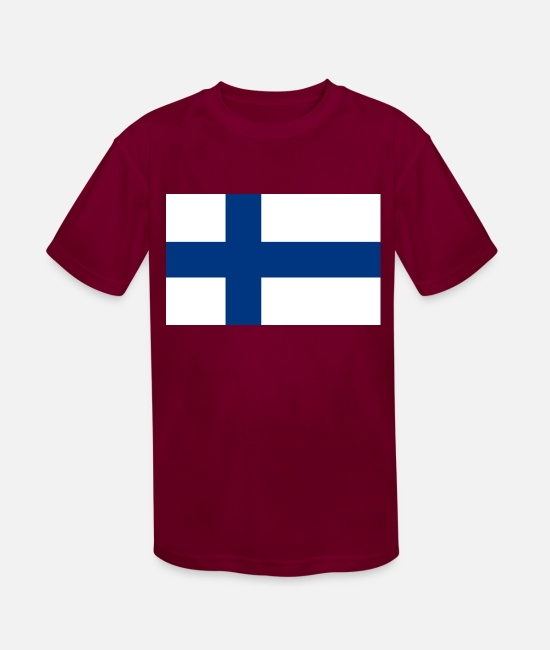 National T-Shirts - Finland country flag love my land patriot - Kids' Sport T-Shirt burgundy