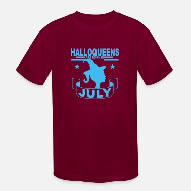 halloqueen_are_born_in_july_halloween_ - Kids' Sport T-Shirt