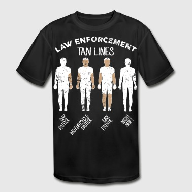 Law Enforcement Tan Lines - Kid's Moisture Wicking Performance T-Shirt