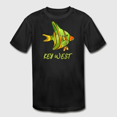 Key West Saltwater Fish Souvenir Design - Kid's Moisture Wicking Performance T-Shirt