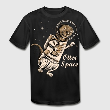 Space otter shirt for cute otter ferret lovers - Kid's Moisture Wicking Performance T-Shirt