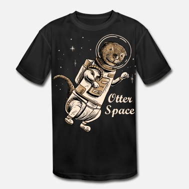 Space otter shirt for cute otter ferret lovers - Kids' Moisture Wicking Performance T-Shirt
