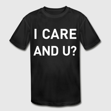 I care and you? refugee aid environment - Kid's Moisture Wicking Performance T-Shirt