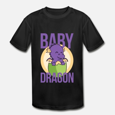 Baby Dragon Fantasy Fantasy Baby Dragon tee - Super cool dragon egg - Kids' Moisture Wicking Performance T-Shirt