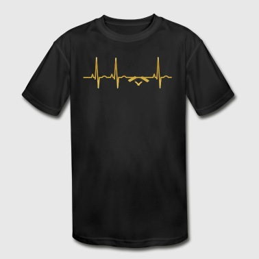 evolution ekg heartbeat MALER - Kid's Moisture Wicking Performance T-Shirt