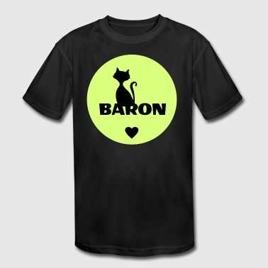 Pet Name Baron cats pets name - Kid's Moisture Wicking Performance T-Shirt