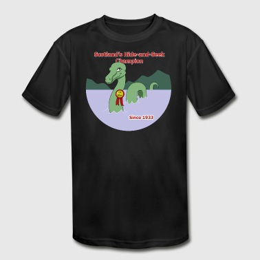 Loch Ness Monster: Hide and Seek Champion - Kid's Moisture Wicking Performance T-Shirt