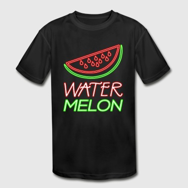 Neon Watermelon Glow Party Costume Summer Fruit - Kid's Moisture Wicking Performance T-Shirt