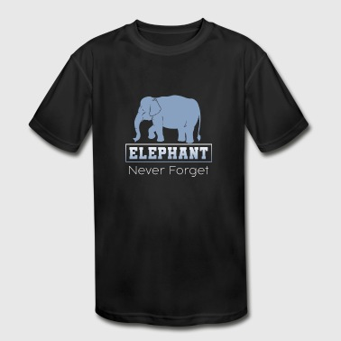 Elephant Tee never forget - Kid's Moisture Wicking Performance T-Shirt