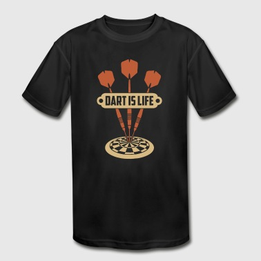 49 Birthday Dart is life Gift Idea Darts Birthday Christmas - Kid's Moisture Wicking Performance T-Shirt