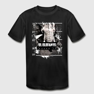 Elephant Mammal Elefante gift - Kid's Moisture Wicking Performance T-Shirt