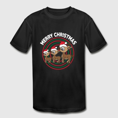 Christmas Present Merry Christmas - Reindeer - presents - Christmas - Kid's Moisture Wicking Performance T-Shirt
