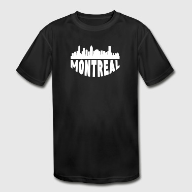 Montreal Canada Cityscape Skyline - Kid's Moisture Wicking Performance T-Shirt
