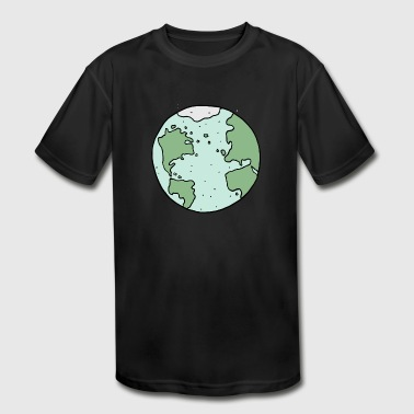earth - Kid's Moisture Wicking Performance T-Shirt