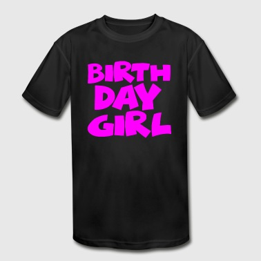 Birthday Girl Shirt - Kid's Moisture Wicking Performance T-Shirt