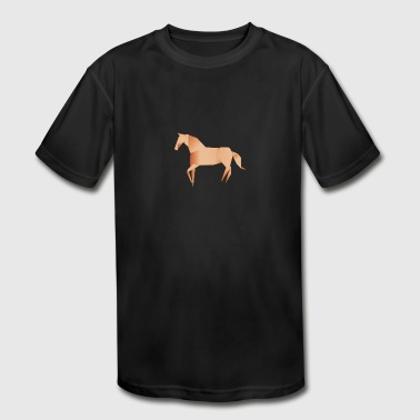Origami Horse - Kid's Moisture Wicking Performance T-Shirt