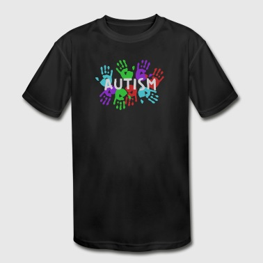 Autism Hand Autism Spectrum Hands - Kid's Moisture Wicking Performance T-Shirt