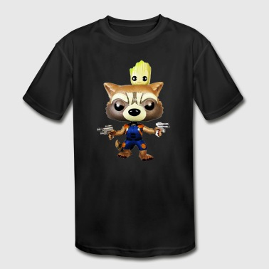 groot and rocket - Kid's Moisture Wicking Performance T-Shirt