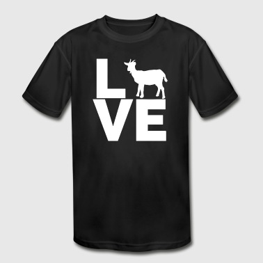 I Love Goats White Goat - Kid's Moisture Wicking Performance T-Shirt