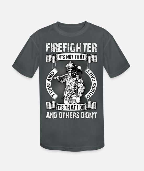 T-Shirts - Firefighter It's Not That I Did T Shirt - Kids' Sport T-Shirt charcoal