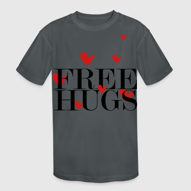 free hugs - Kid's Moisture Wicking Performance T-Shirt