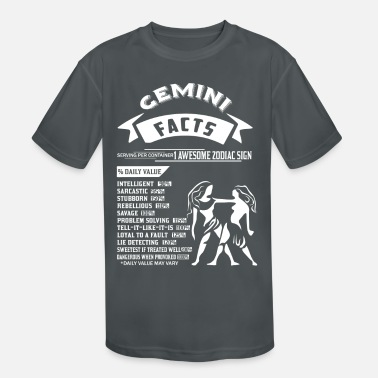 Gemini Man GEMINI FACTS - Kids' Sport T-Shirt