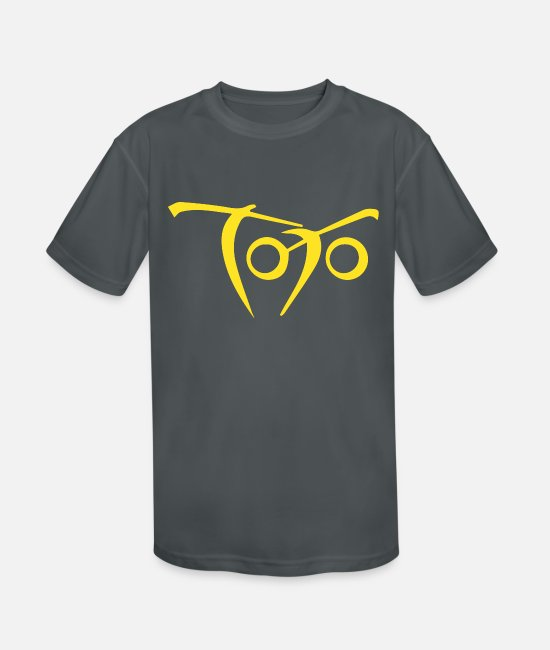 Toto T-Shirts - Toto 80s Band Yellow logo - Kids' Sport T-Shirt charcoal