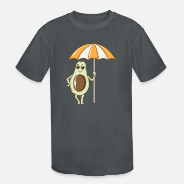 Vegan Avocado under a Sunshade - Kids' Sport T-Shirt