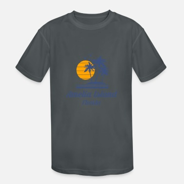 City-state Amelia Island Beach Florida Fl City State Tourist - Kids' Sport T-Shirt