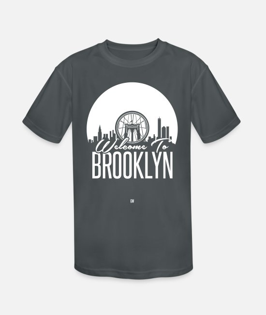 Greeting T-Shirts - Welcome To Brooklyn - Kids' Sport T-Shirt charcoal