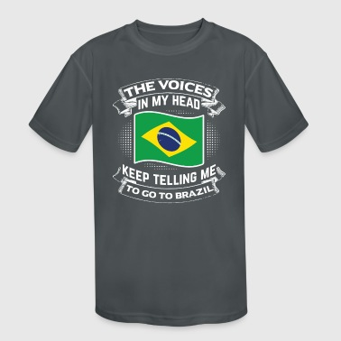 Brazil - Kid's Moisture Wicking Performance T-Shirt