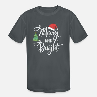 Bright Merry And Bright, funny, gift, Christmas, xmas - Kids' Sport T-Shirt