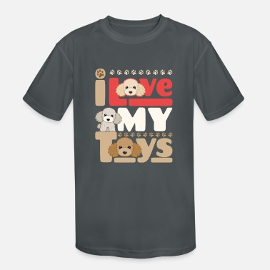 Toy Poodle I Love My Toys - Kids' Sport T-Shirt
