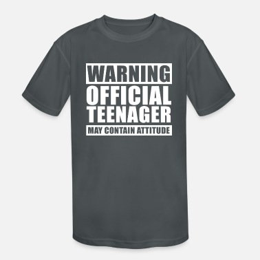 Teenager Warning Official Teenager T Shirt 13th Birthday - Kids' Sport T-Shirt