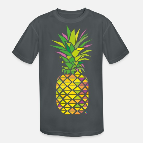 Pineapple T-Shirts - AD Pineapple - Kids' Sport T-Shirt charcoal