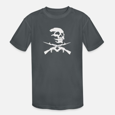 Revolver OLD WEST SKULL AND REVOLVERS - Kids' Sport T-Shirt