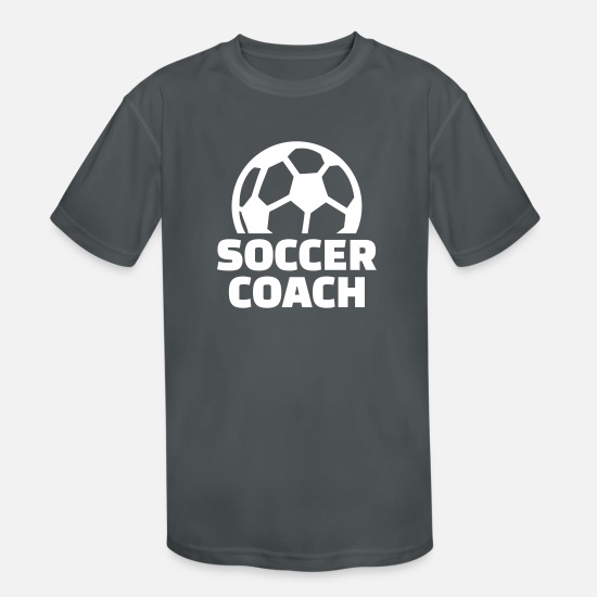 Coach T-Shirts - Soccer coach - Kids' Sport T-Shirt charcoal
