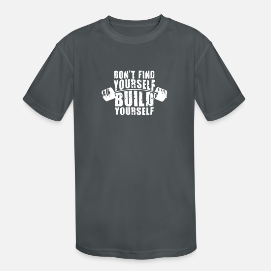 Birthday T-Shirts - Build Yourself - Kids' Sport T-Shirt charcoal