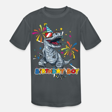 Birthday Party Trex Birthday Boy - Kids' Sport T-Shirt