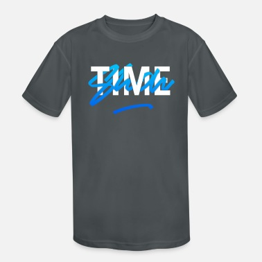 Aggressive It's Show time Interlaced Blue Basketball - Kids' Sport T-Shirt
