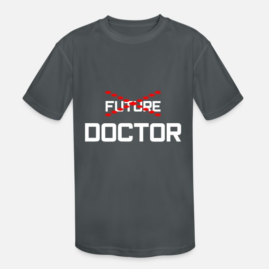 Doctor T-Shirts - doctor hospital healthy injection gift idea - Kids' Sport T-Shirt charcoal
