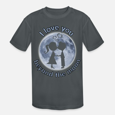 I love you beyond the moon valentine's day gift - Kids' Sport T-Shirt