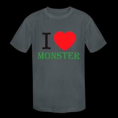 I Love Monster Energy - Kid's Moisture Wicking Performance T-Shirt
